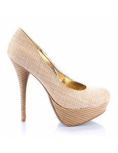 Pantofi Bamboo Colada36 beige 1505