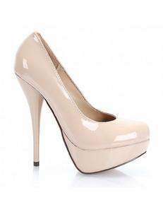 Pantofi Nicole platform beige 1411