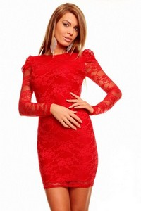 Rochie Impression Lace Red