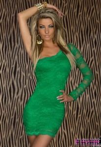 Rochie Queen Sunset Green