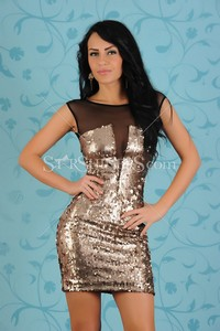Rochie Fofy Shining Emotion Gold