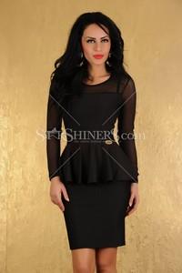 Rochie MissQ Elegant Rhytm Black
