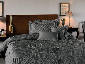 Cuvertura de pat matlasata Lapronda gri