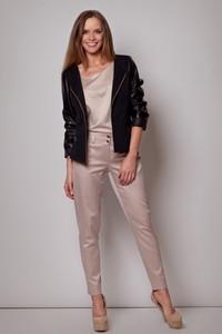 Jacheta cu maneci din piele eco - Negru