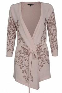 Pullover asimetric cu print floral - Roz