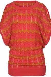 Pullover fluture cu maneca scurta - Roz SBK1781RO