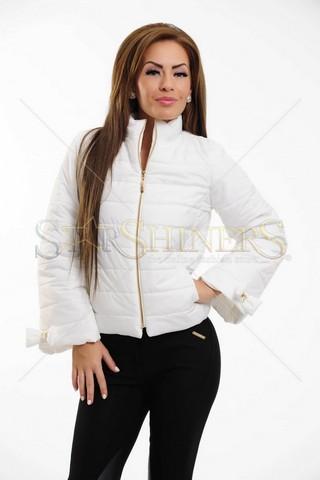 Geaca PrettyGirl Cosy Warmth White