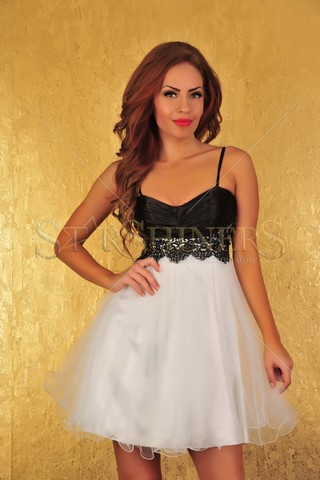 Rochie Fofy Famous Flame White