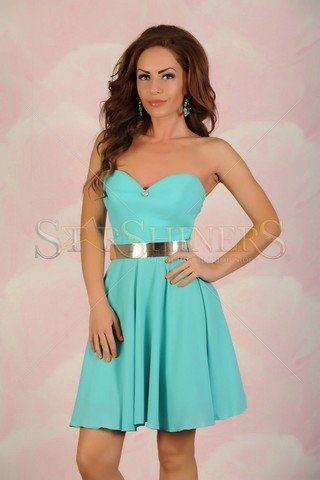 Rochie LaDonna Glow Heart Turquoise