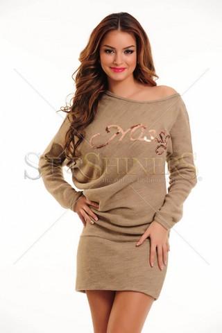 Rochie MissQ Modern Style Brown
