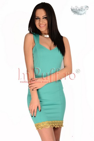 Rochie din lycra turquoise