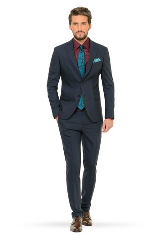 casual slim fit suits for men